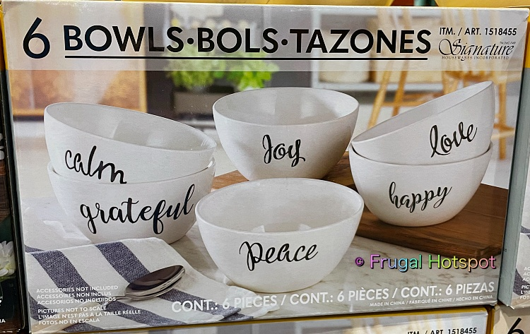 Signature Housewares Bowls with Inspirational Words | Costco 1518455