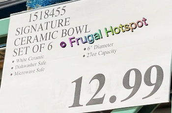 Signature Housewares Bowls with Inspirational Words | Costco Price