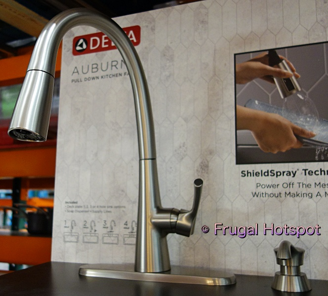 Delta Auburn Pull-Down Kitchen Faucet | side view | Costco Display