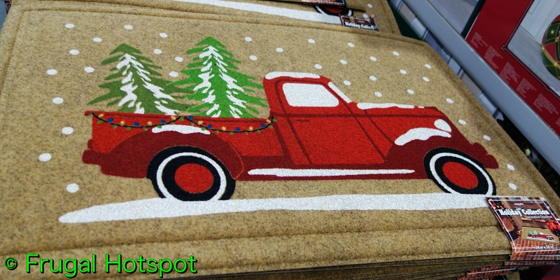 Mohawk Coir Holiday Mat Red Truck   Costco
