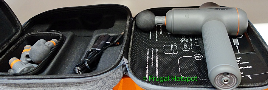 Sharper Image Power Percussion Deep Tissue Massager with attachments and case   Costco Display